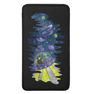 Hylaeus Bee with Alien in Space Galaxy samsung Galaxy S5 Pouch
