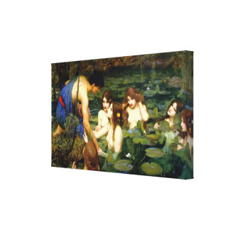 Hylas and the Nymphs ~ John William Waterhouse Canvas Print