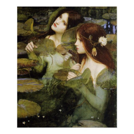 Hylas and The Nymphs Poster By John W. Waterhouse
