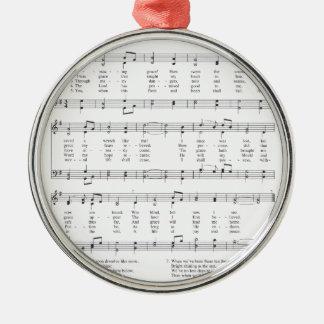 Hymn - Amazing Grace Metal Ornament