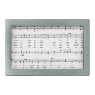 Hymn - Amazing Grace Rectangular Belt Buckle