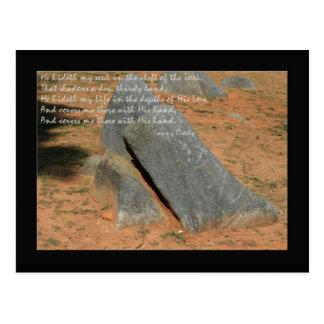 Hymn by Fannie Crosby He hideth my soul Postcard