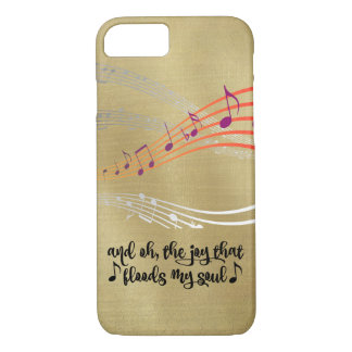 Hymn: Joy that Flood my Soul Quote iPhone 8/7 Case