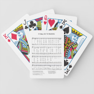 Hymn - O Come All Ye Faithful Bicycle Playing Cards