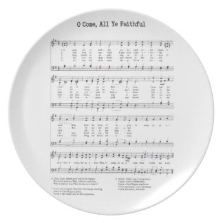 Hymn - O Come All Ye Faithful Plate