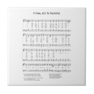 Hymn - O Come All Ye Faithful Tile