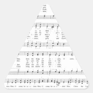 Hymn - O Come All Ye Faithful Triangle Sticker