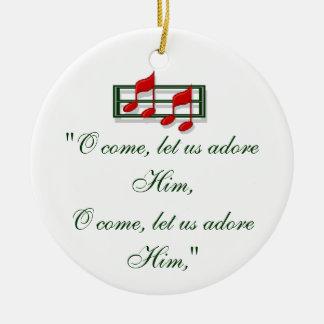 "Hymn Ornament ""O Come All Ye Faithful"" Christmas"