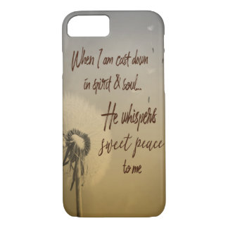 Hymn Typograhy: He Whispers Sweet Peace Case-Mate iPhone Case
