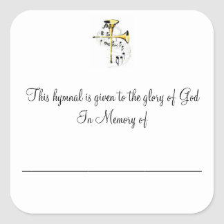 Hymnal Plates Square Sticker