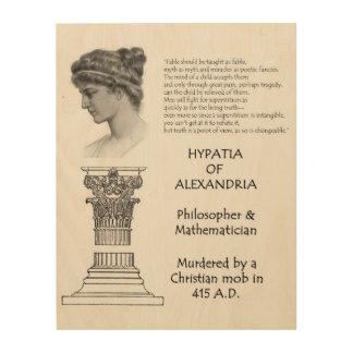 Hypatia of Alexandria Quotation Wood Wall Art