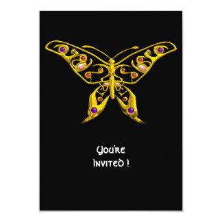 "HYPER BUTTERFLY ,black 5"" X 7"" Invitation Card"
