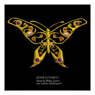 HYPER BUTTERFLY,colossal size Poster