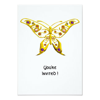 "HYPER BUTTERFLY 5"" X 7"" INVITATION CARD"