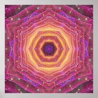 Hyper Gate Mandala Poster