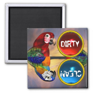 HYPER PARROTS /RED AND BLUE ARA MAGNET