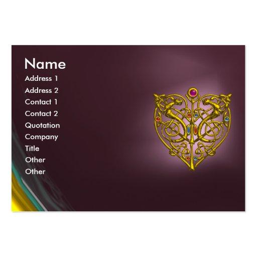 HYPER VALENTINE AMETHYST, purple violet pink Business Card Templates