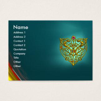 HYPER VALENTINE AQUAMARINE ,blue Business Card