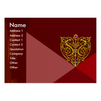 HYPER VALENTINE RUBY 2 ,red Large Business Card