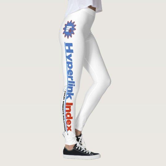 Hyperlink Index White Women's Leggings with Logo