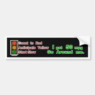Hypermiler Bumper Sticker Coast Anticipate Start