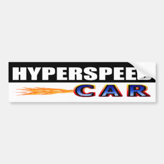 Hyperspeed Car Bumper Sticker