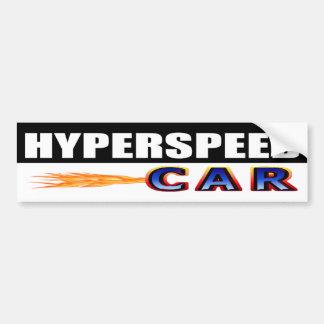 Hyperspeed Car Bumper Sticker