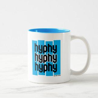 Hyphy Light Blue Two-Tone Coffee Mug