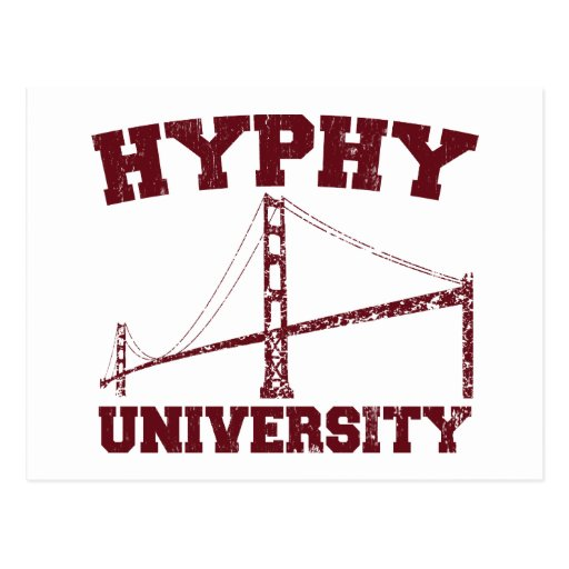 Hyphy University yay area Postcards