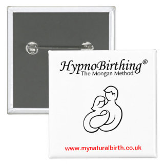 HypnoBirthing Badge 2 Inch Square Button