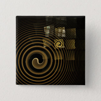 Hypnosis Abstract Art Button (square)