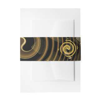 Hypnosis Abstract Art Invitation Belly Band