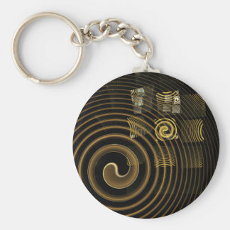 Hypnosis Abstract Art Keychain
