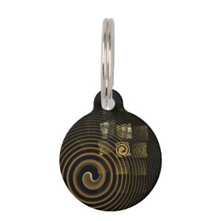 Hypnosis Abstract Art Round Pet Tag