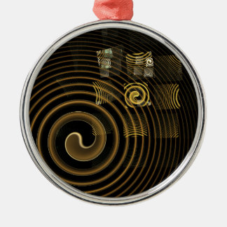 Hypnosis Abstract Art Round Silver-Colored Round Ornament