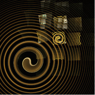 Hypnosis Abstract Art Standing Photo Sculpture