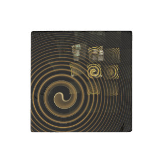 Hypnosis Abstract Art Stone Magnets