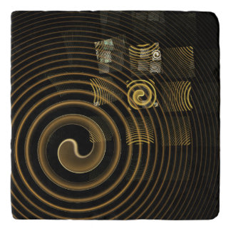 Hypnosis Abstract Art Stone Trivet