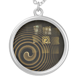 Hypnosis Abstract Silver Necklace