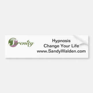 Hypnosis  Change Your Life Bumper Sticker