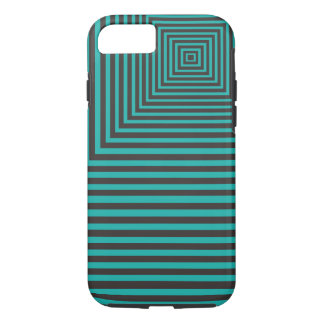 Hypnosis Squared Pattern Teal and Black iPhone 7 Case