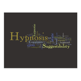 Hypnosis Word Art Post Card - Dark Background