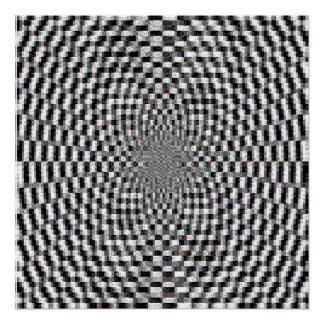 Hypnotic Ascii Art Perfect Poster