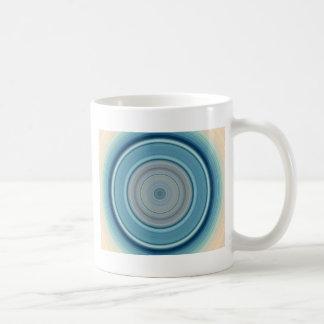 Hypnotic Circle Aqua White Coffee Mug
