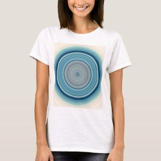 Hypnotic Circle Aqua White T-Shirt