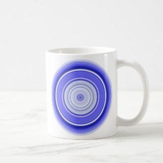 Hypnotic Circle Blue White Coffee Mug