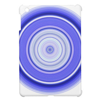 Hypnotic Circle Blue White iPad Mini Cover