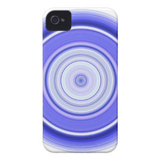 Hypnotic Circle Blue White iPhone 4 Cases