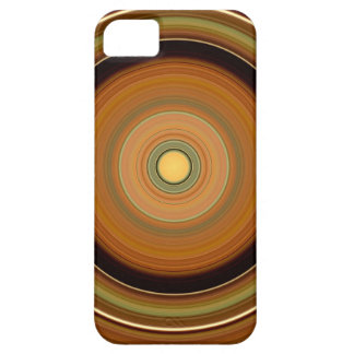 Hypnotic Circle Brown Case For The iPhone 5