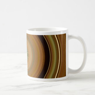 Hypnotic Circle Brown Coffee Mug